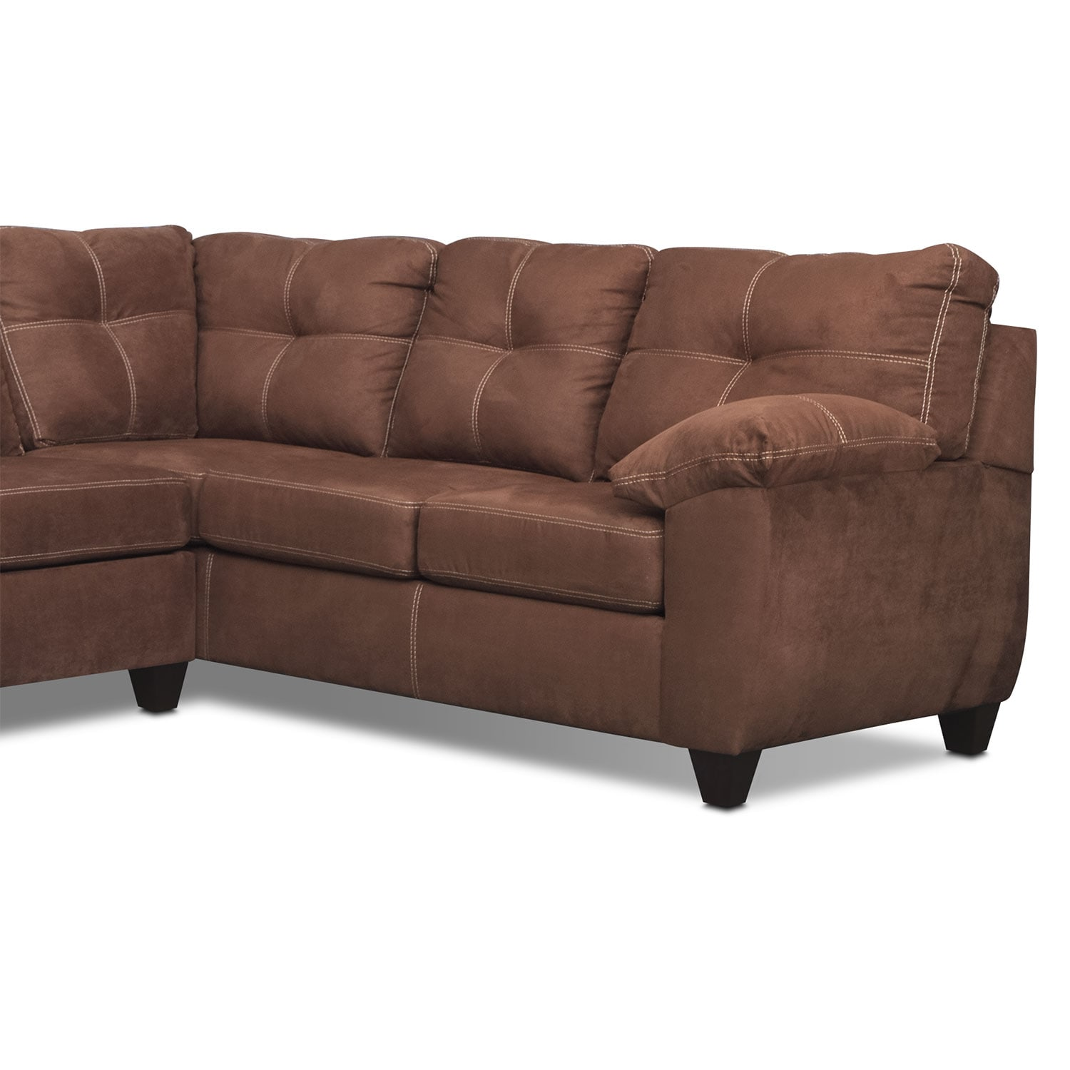 Ricardo 2 Piece Memory Foam Sleeper Sectional with Right Facing
