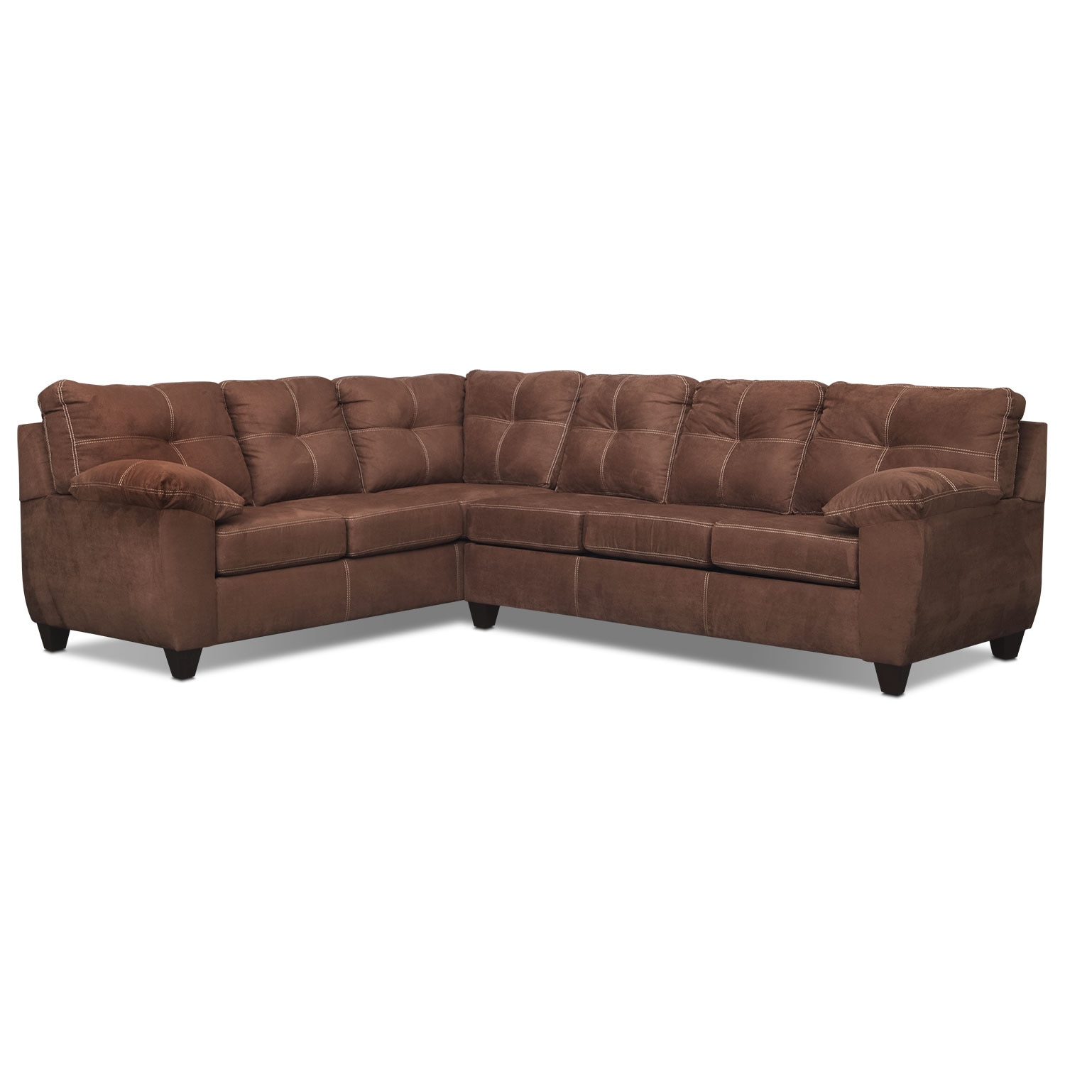 Rialto 2 Pc. Sectional with Left-Facing Sofa - Coffee