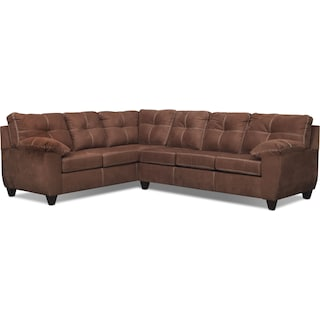 Ricardo 2-Piece Memory Foam Sleeper Sectional with Left-Facing Sofa - Coffee