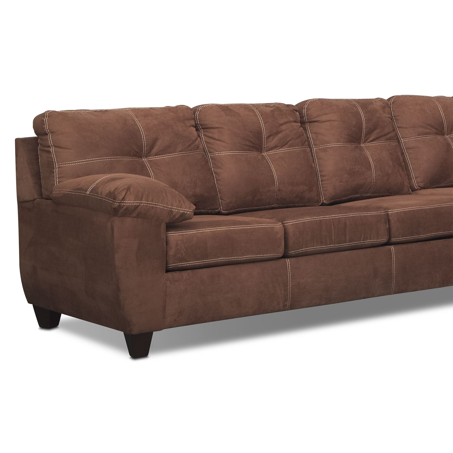 ricardo 2 piece memory foam sleeper sectional with right fac
