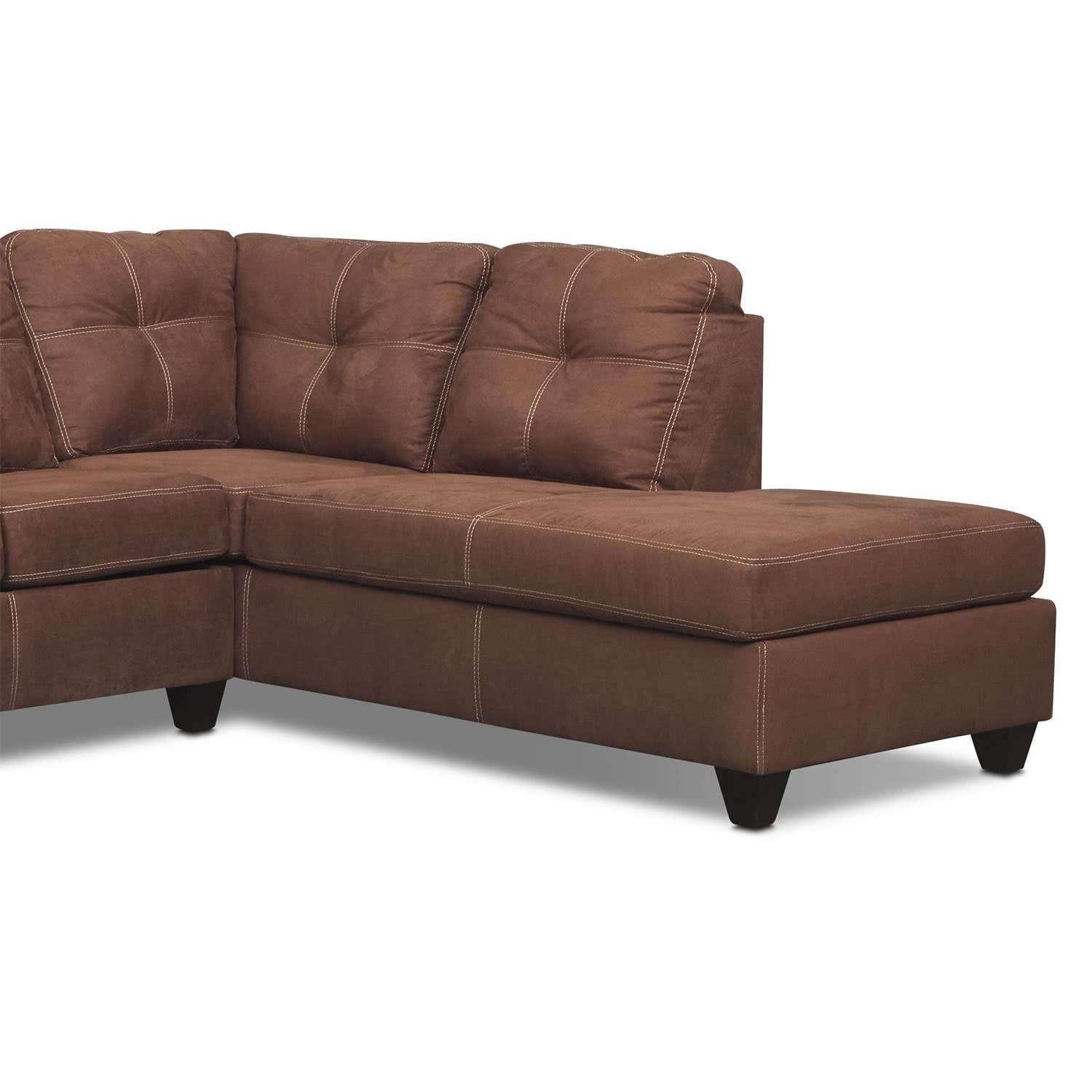 ricardo 2 piece sectional with right facing chaise