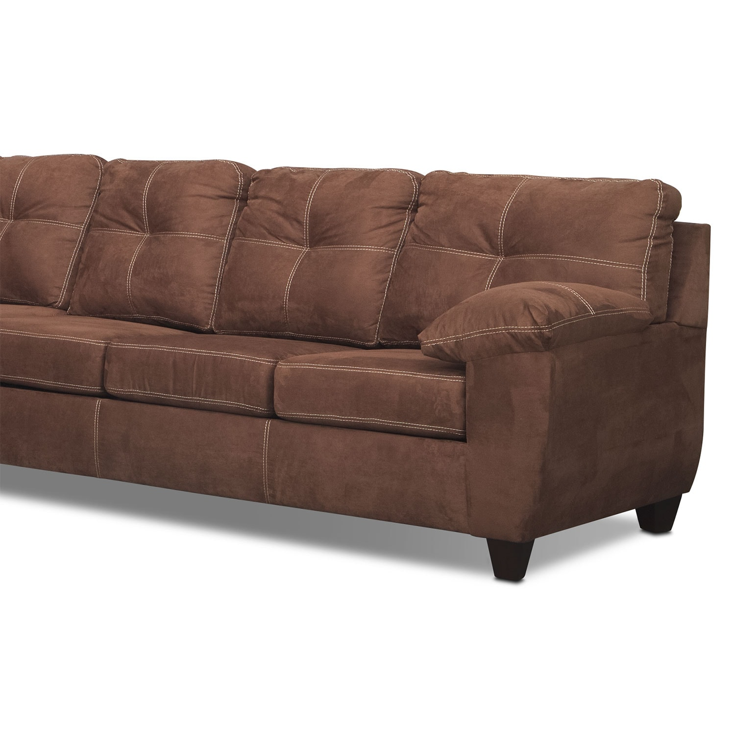 Ricardo 2 piece memory foam sleeper sectional with left for American signature furniture commercial chaise