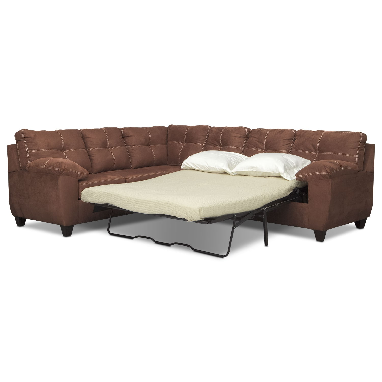 ... Ricardo 2 Piece Sleeper Sectional With Sofa