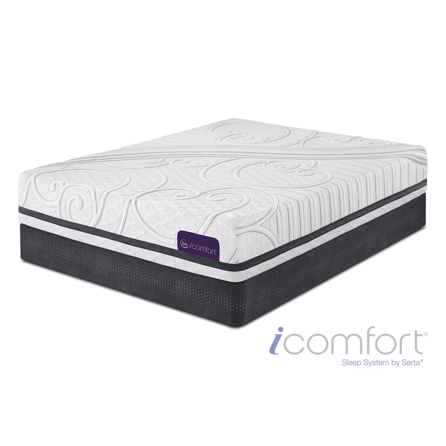 Mattresses and Bedding - Savant III Firm Full Mattress and Low-Profile Foundation Set