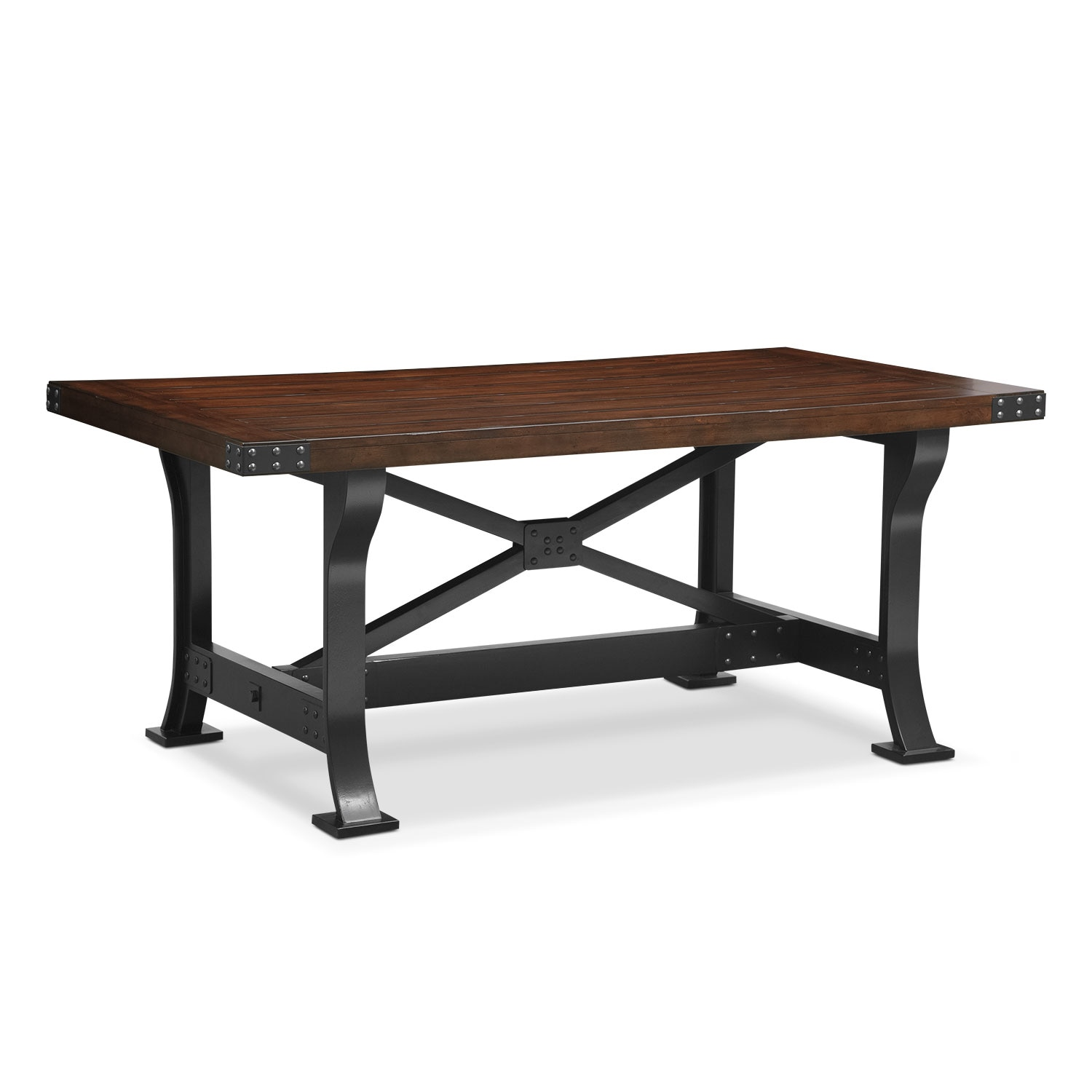 Newcastle standard height dining table american signature furniture - Height dining room table ...