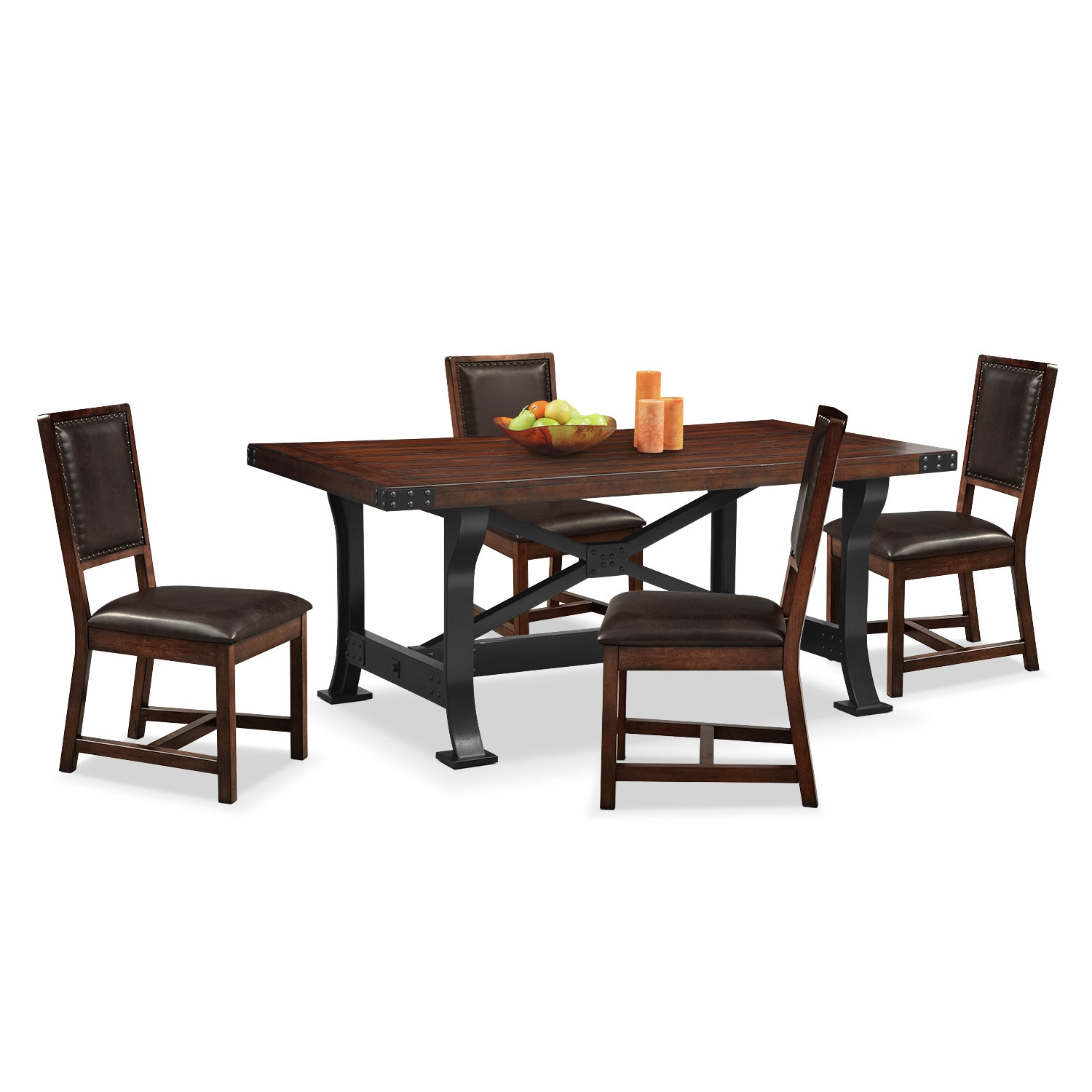 Newcastle Table And 4 Chairs Mahogany American