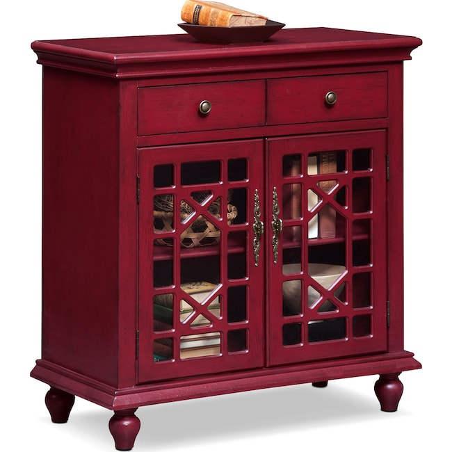 Accent and Occasional Furniture - Grenoble Accent Cabinet - Red