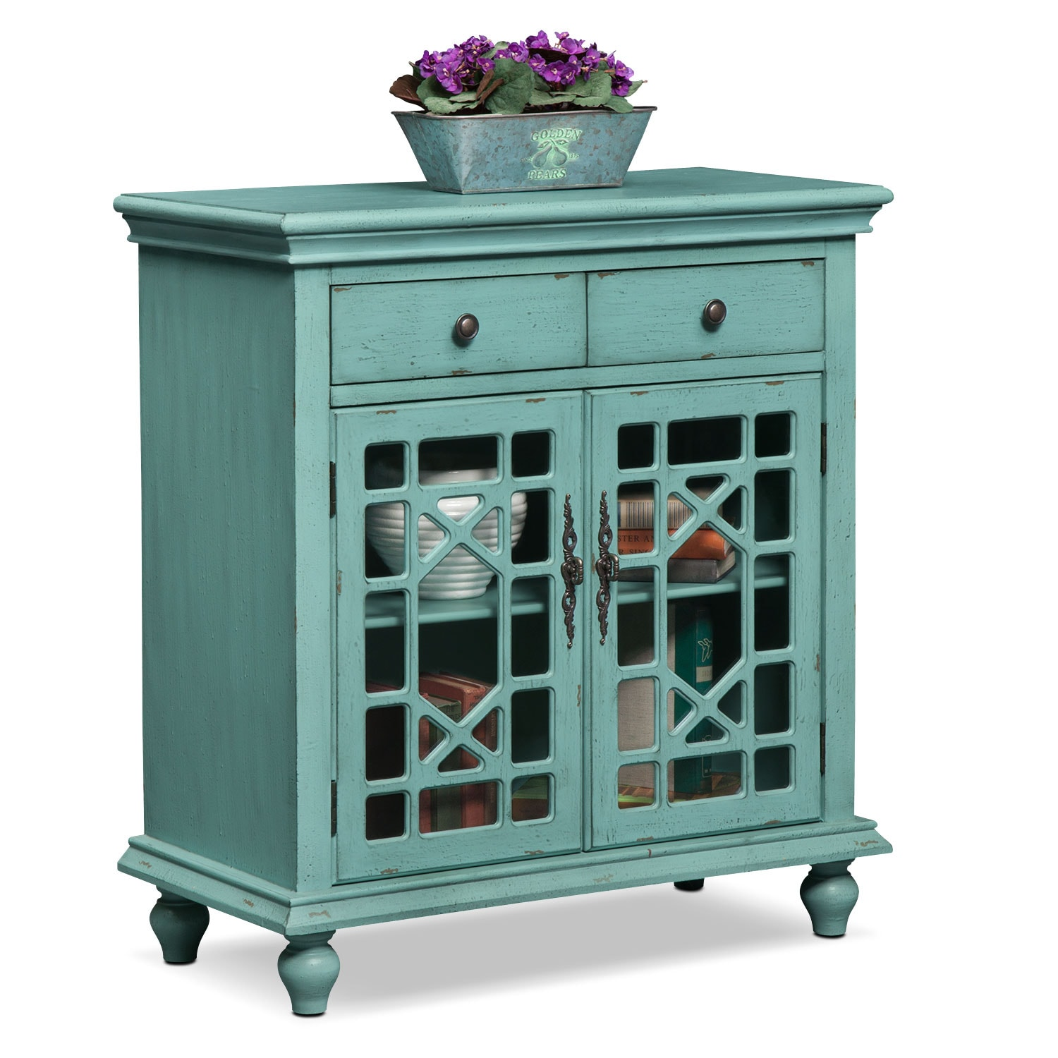 American Accents Furniture Nc: Grenoble Accent Cabinet - Teal