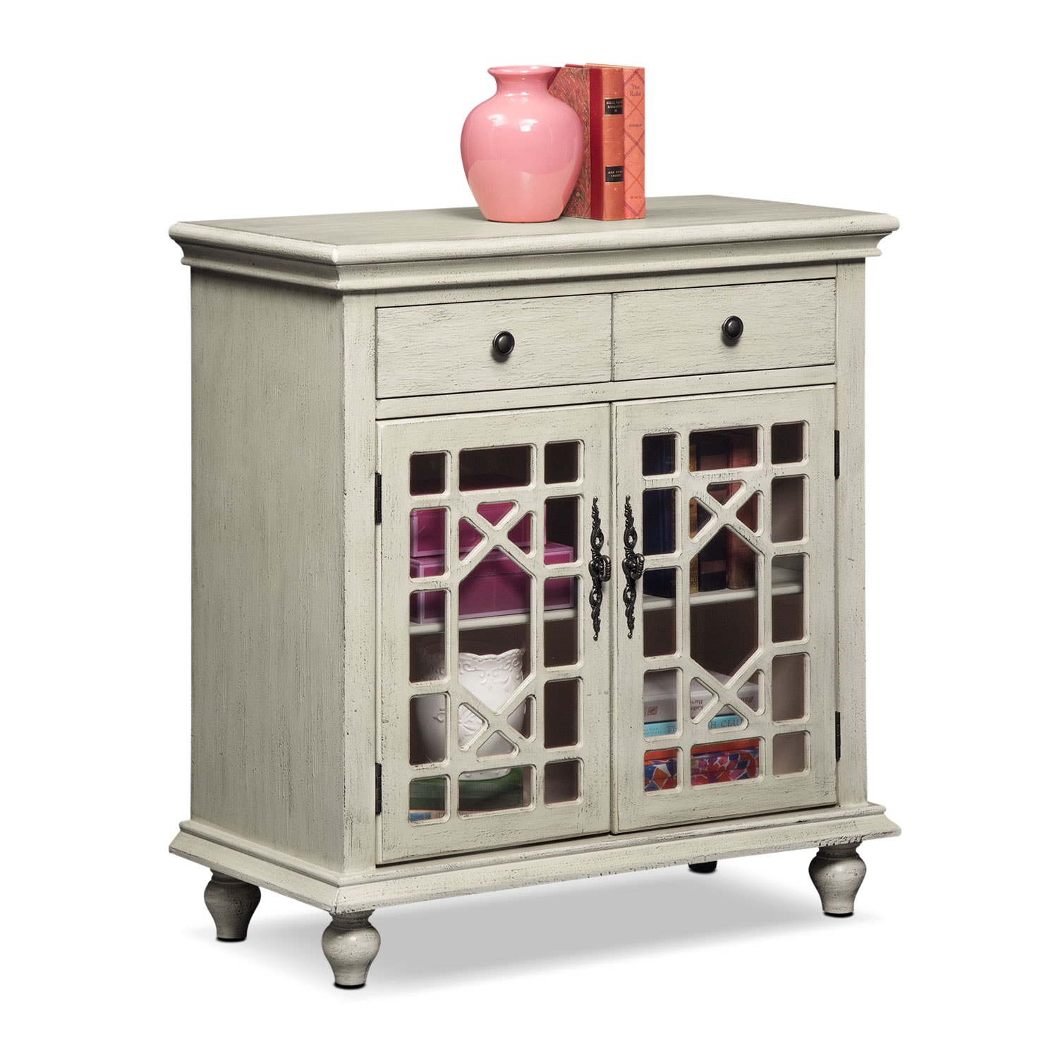 Accent and Occasional Furniture - Grenoble Accent Cabinet - Ivory