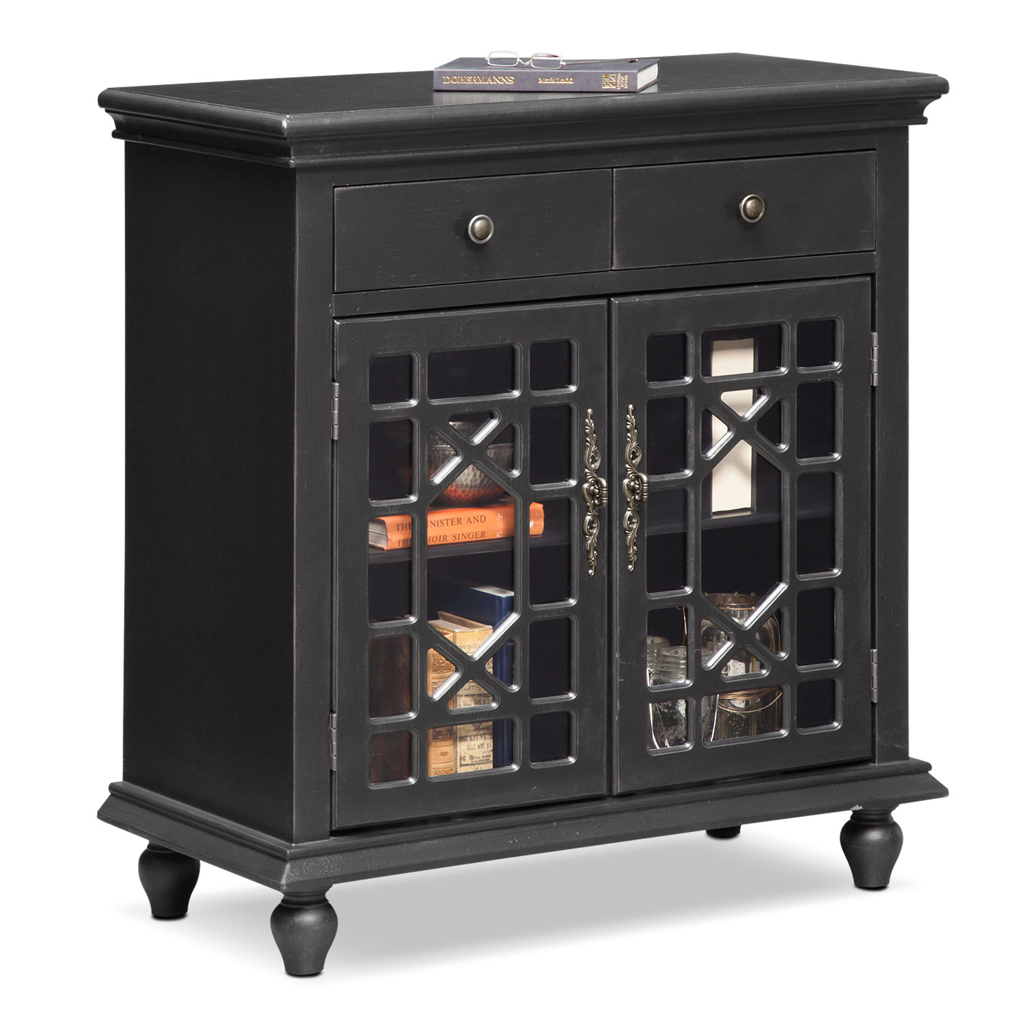 Grenoble Accent Cabinet - Black