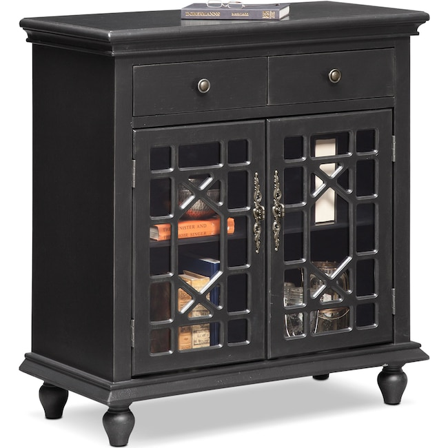 Accent and Occasional Furniture - Grenoble Accent Cabinet - Black