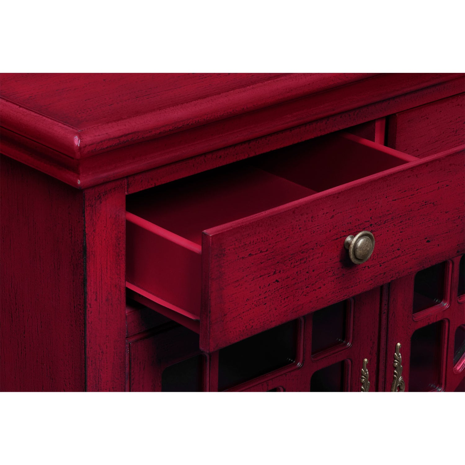 American Accents Furniture Nc: Grenoble Accent Cabinet - Red
