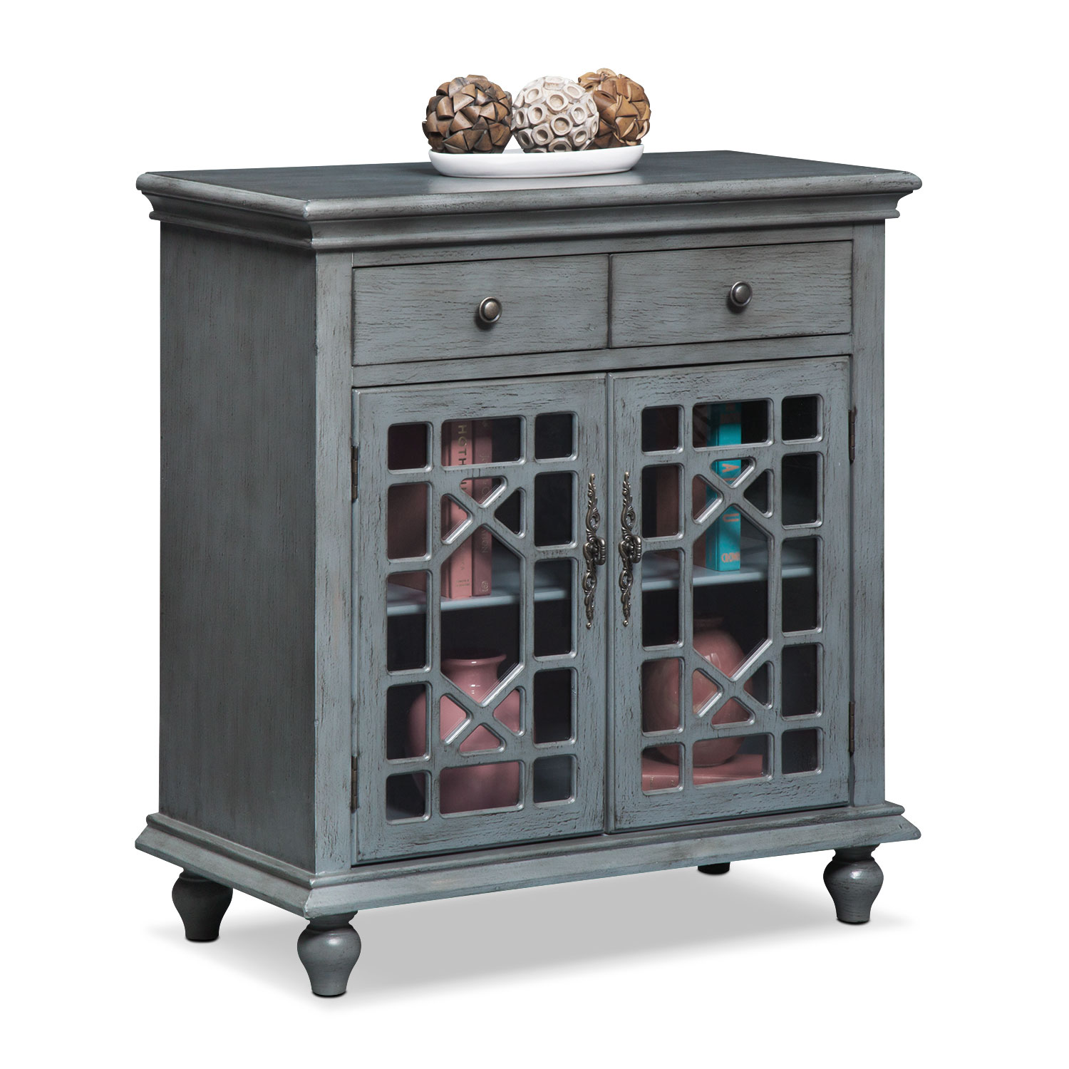 Accent and Occasional Furniture - Grenoble Accent Cabinet - Gray