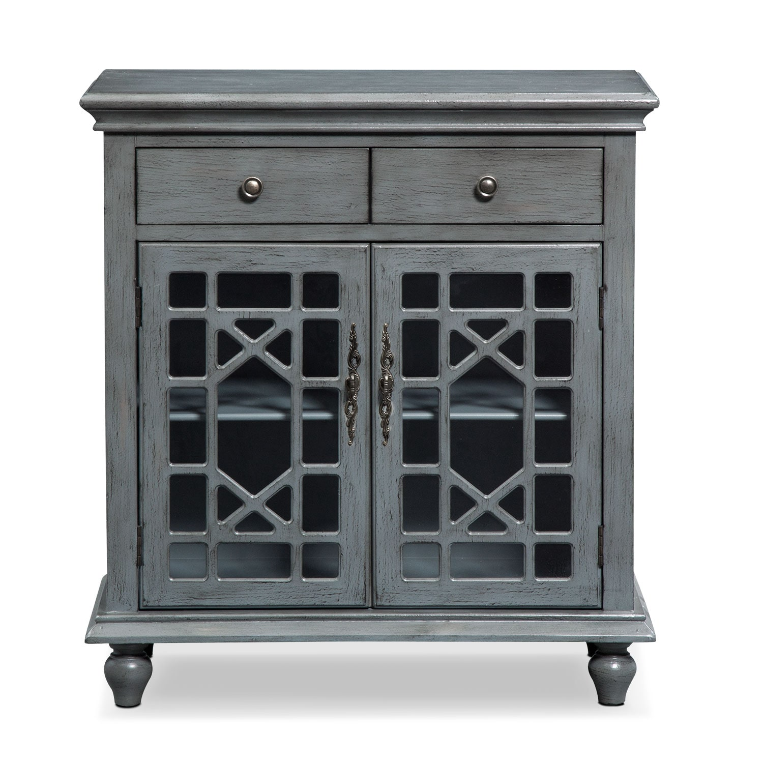 American Accents Furniture Nc: Grenoble Accent Cabinet - Gray