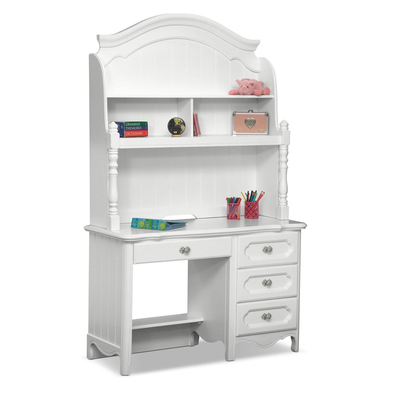 Kids Furniture - Carly Desk and Hutch - White