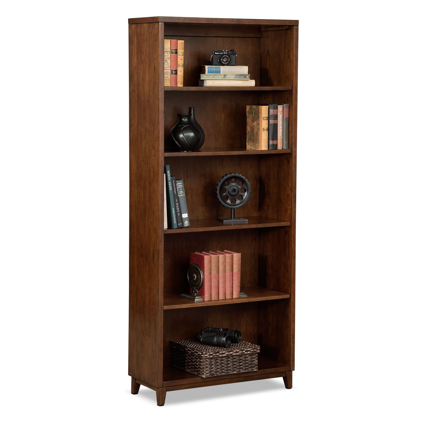 "Oslo Cherry 70"" Bookcase"