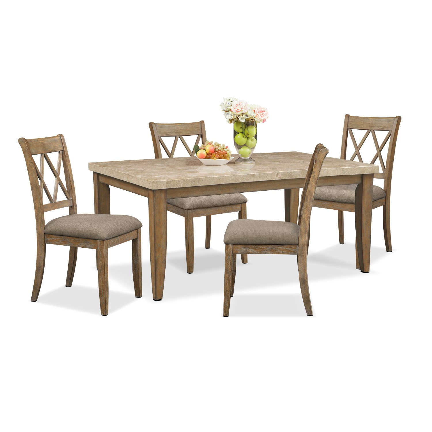 Dining Room Furniture - Sedona Gray 5 Pc. Dining Room