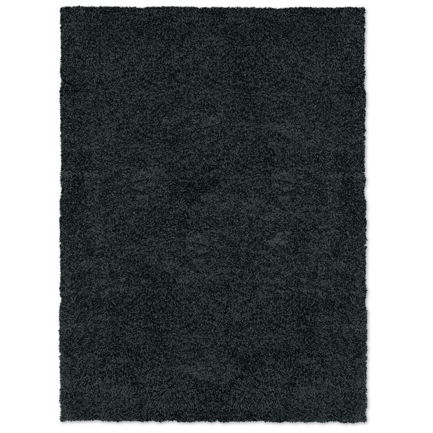 Domino Black Shag Area Rug (5' x 8')