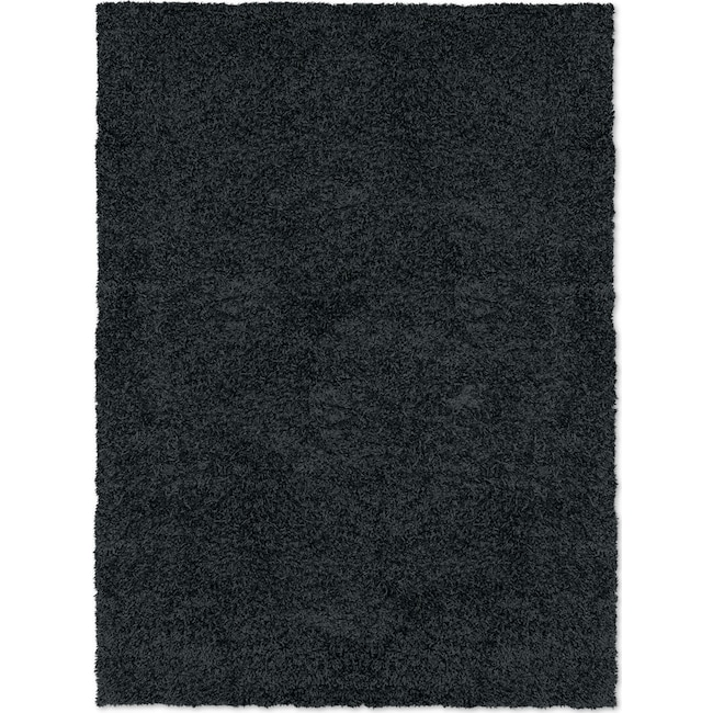 Rugs - Domino Black Shag Area Rug (8' x 10')