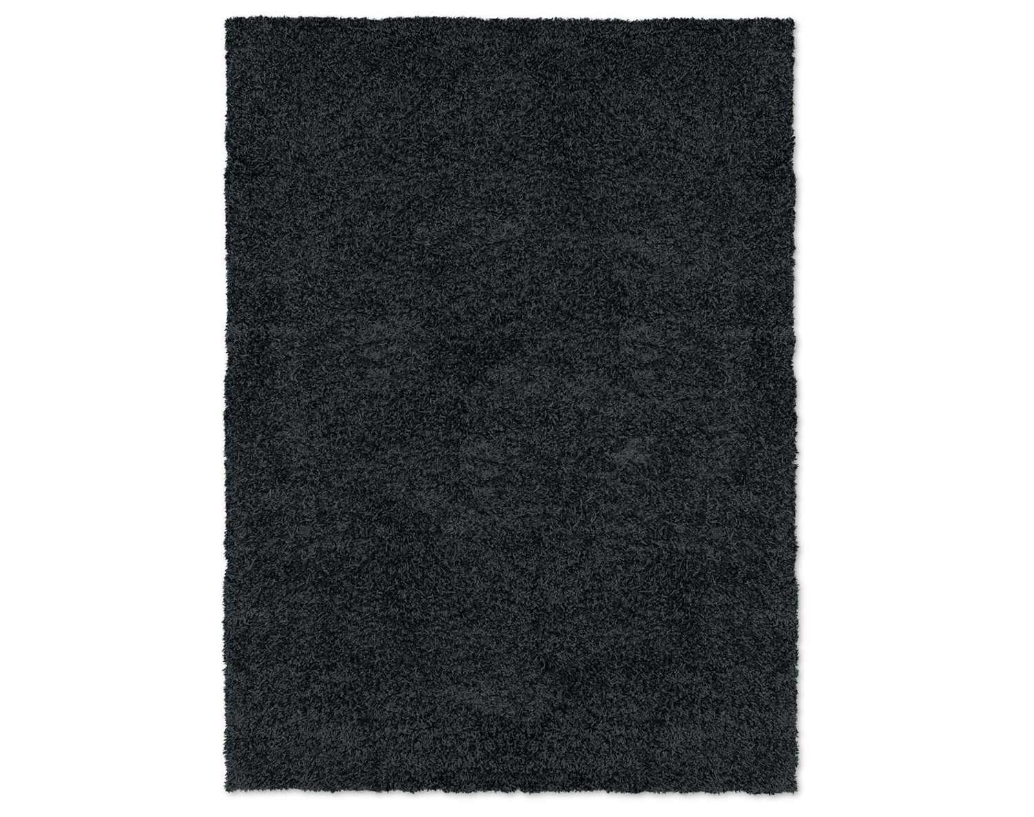 The Domino Black Shag Rug Collection