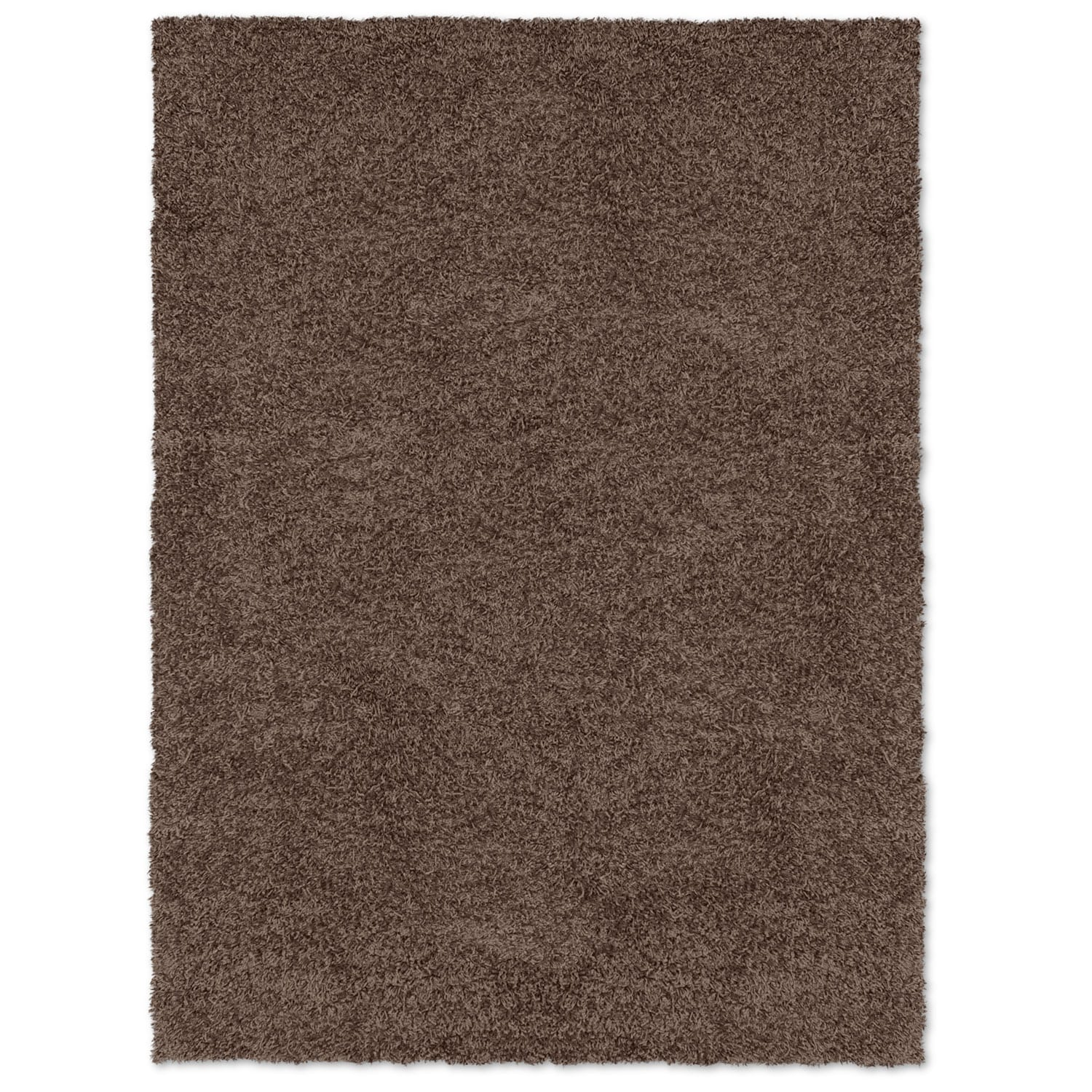 Comfort Chocolate Shag Area Rug (5' x 8')