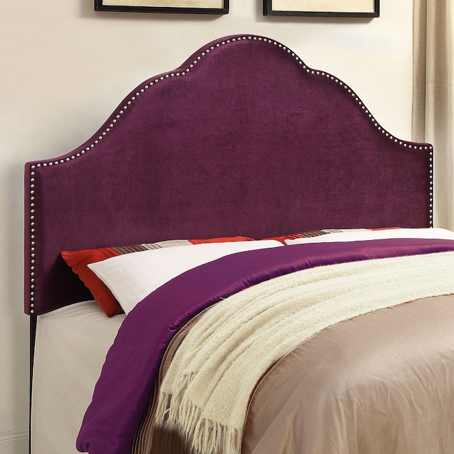 Bedroom Furniture - Delaney King Headboard - Plum