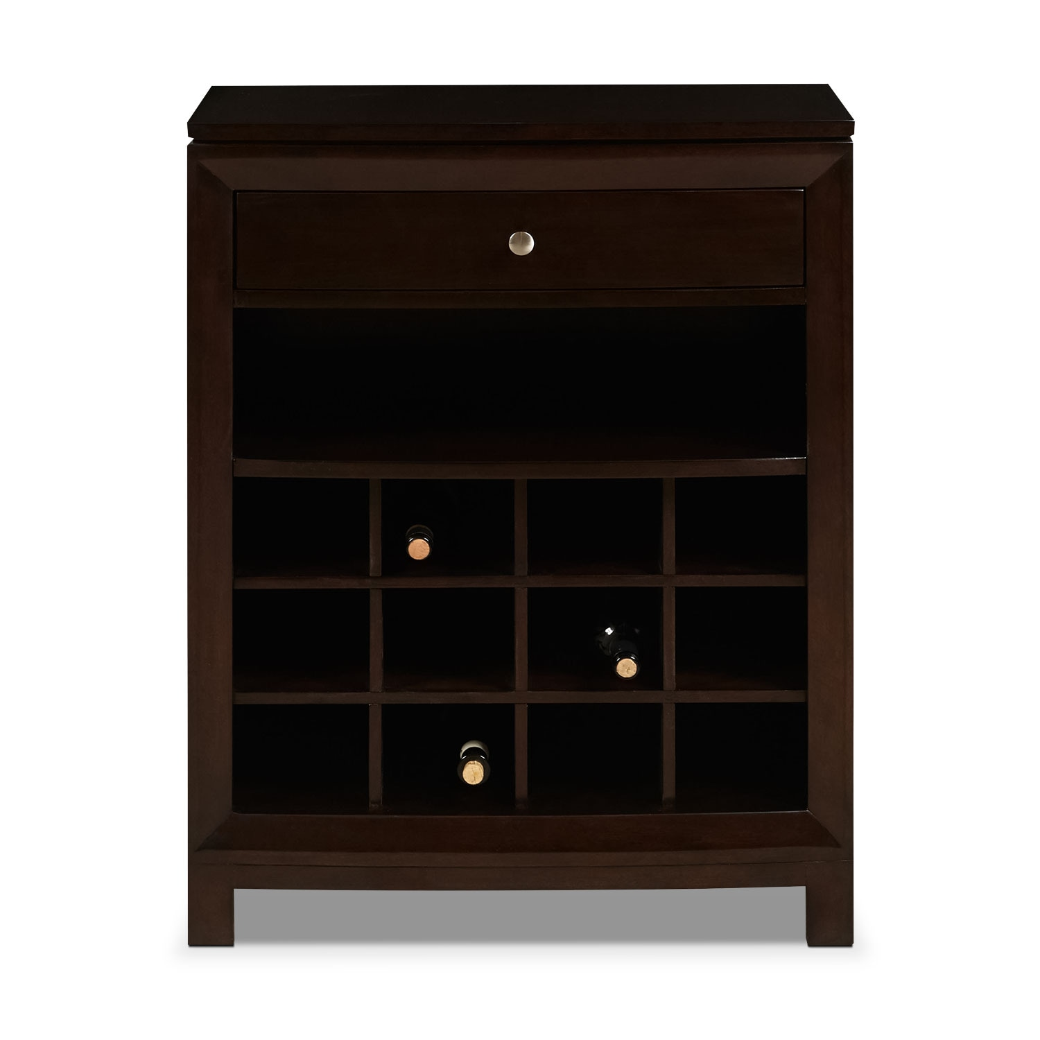 Accent and Occasional Furniture - Nordin Wine Cabinet - Cherry