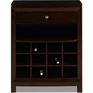 Nordin Wine Cabinet - Cherry