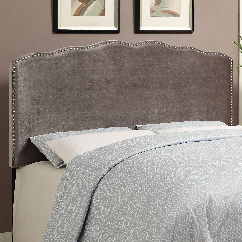 Bedroom Furniture - Layla Queen Headboard - Platinum