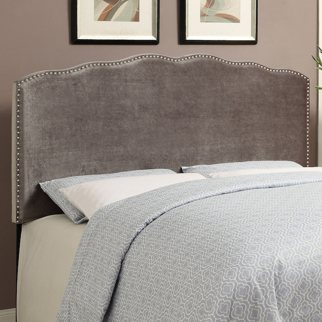 Bedroom Furniture - Layla King Headboard - Platinum