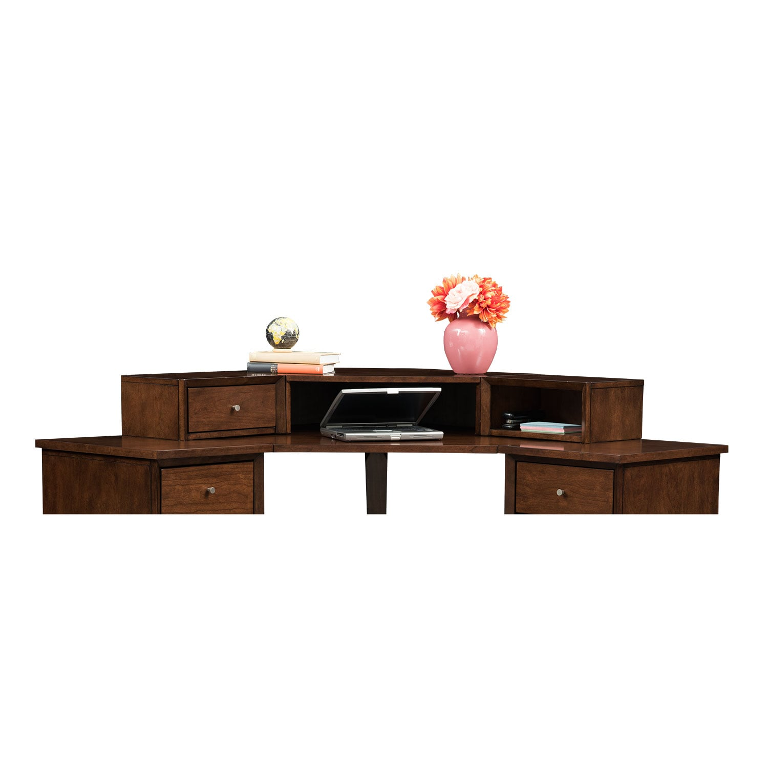 Home Office Furniture - Oslo Cherry Corner Hutch