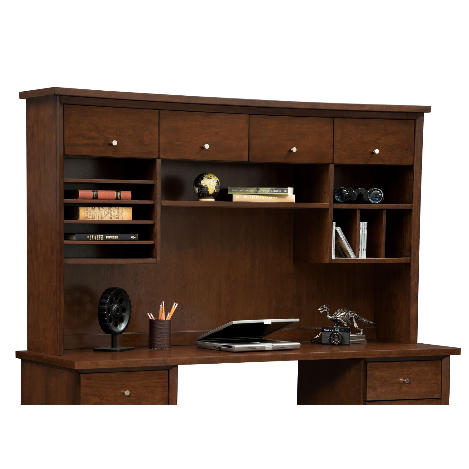 Oslo 4-Door Hutch - Cherry
