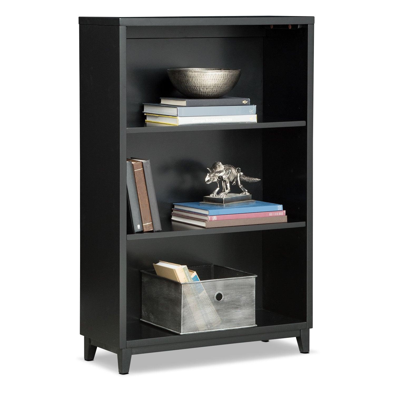"Home Office Furniture - Oslo Black 46"" Bookcase"
