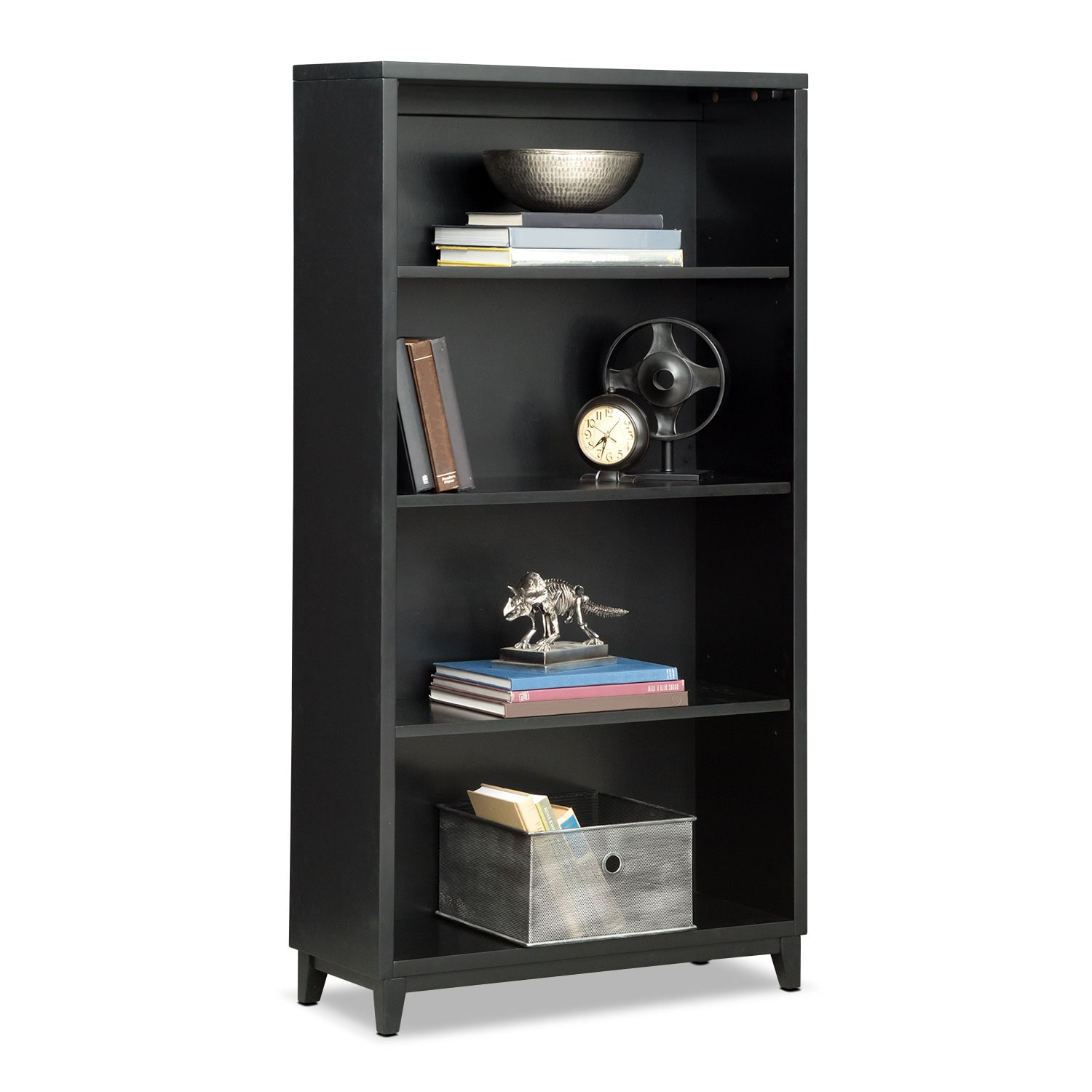 "Oslo 58"" Bookcase - Black"
