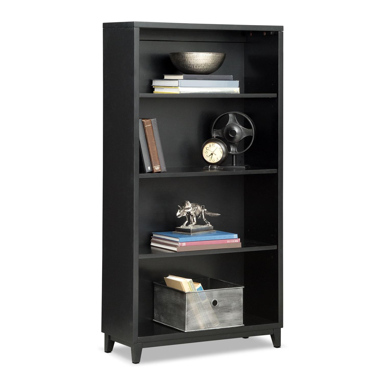 "Home Office Furniture - Oslo Black 58"" Bookcase"