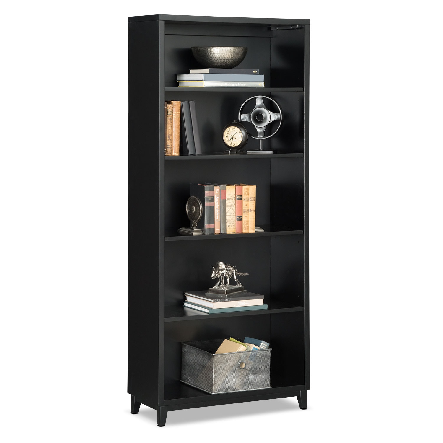 "Oslo Black 70"" Bookcase"