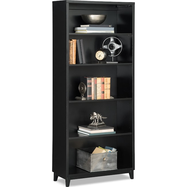 "Home Office Furniture - Oslo 70"" Bookcase - Black"