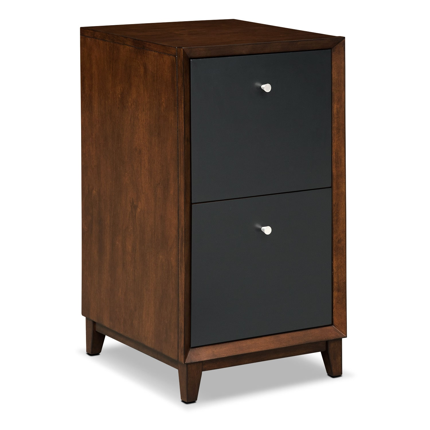 Oslo Black 2-Drawer File Cabinet