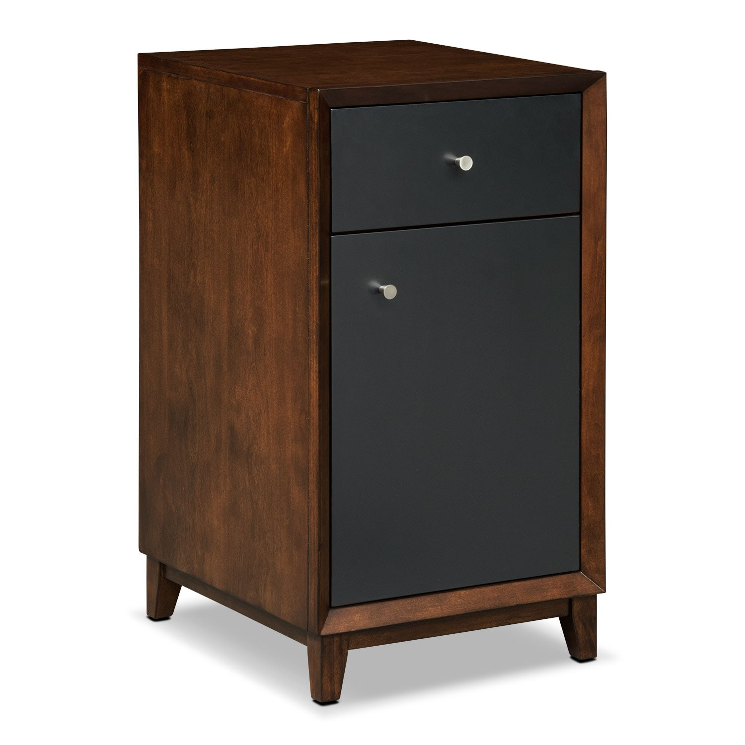Oslo Door File Cabinet - Black