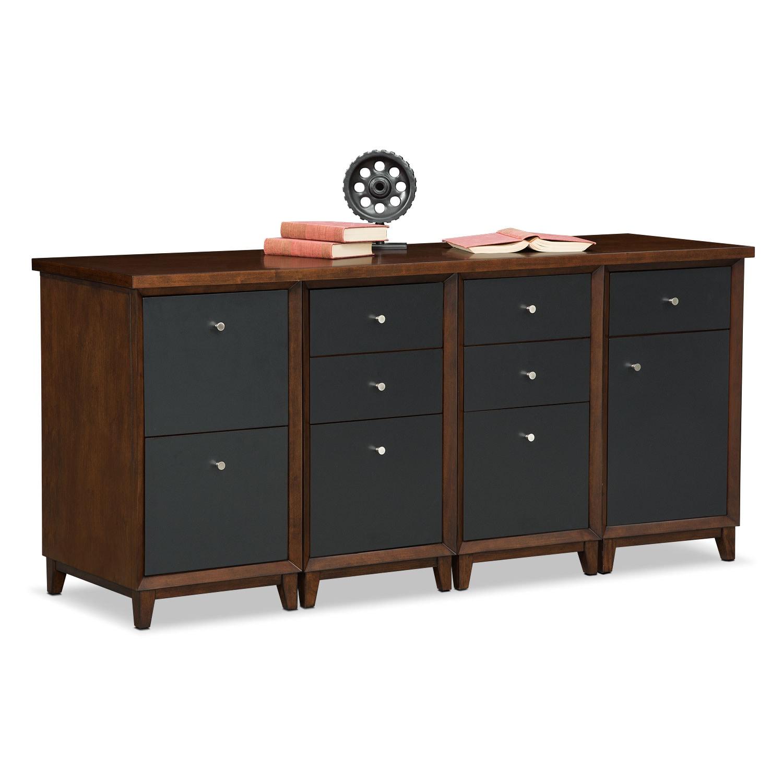 Home Office Furniture - Oslo Credenza Desk - Black