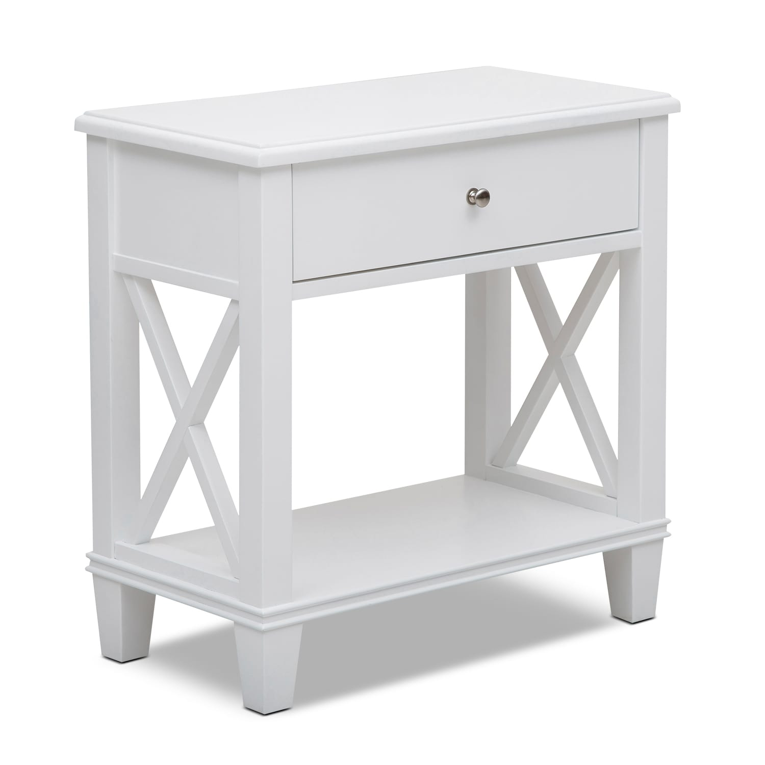 Liat Accent Table - White