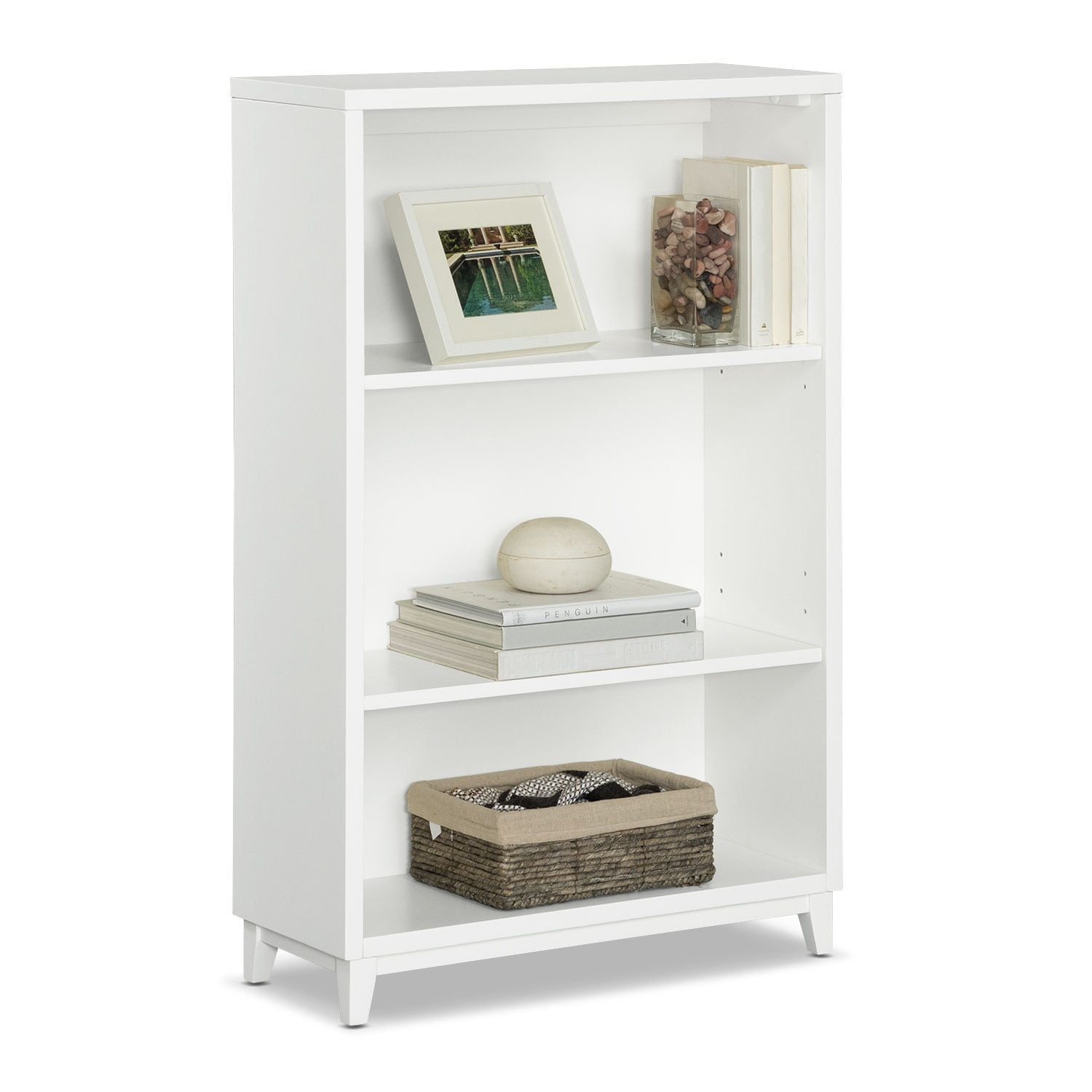 "Oslo White 46"" Bookcase"