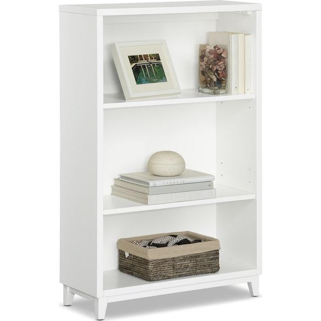 """Home Office Furniture - Oslo 46"""" Bookcase - White"""