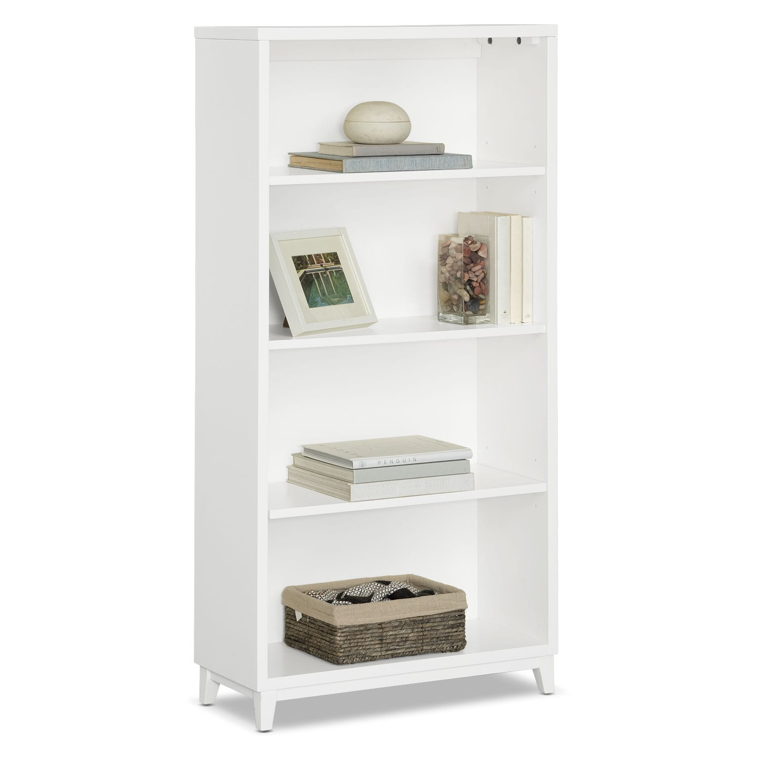 "Oslo White 58"" Bookcase"