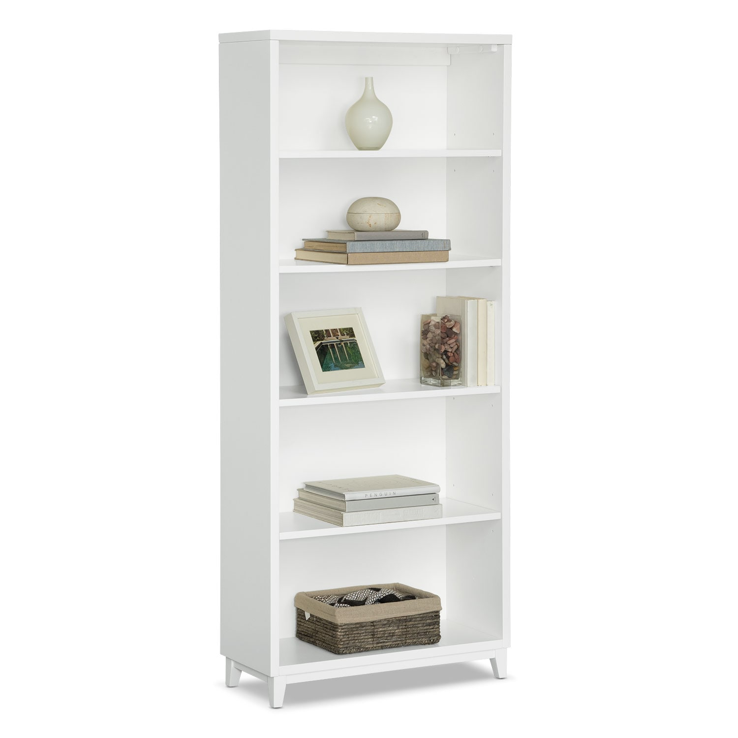 "Oslo White 70"" Bookcase"