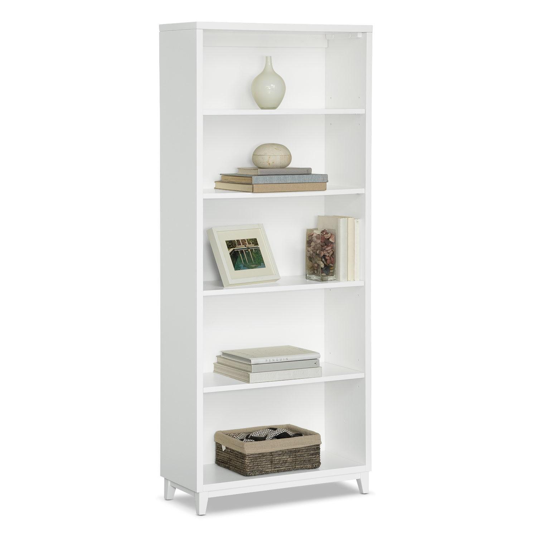 """Home Office Furniture - Oslo 70"""" Bookcase - White"""