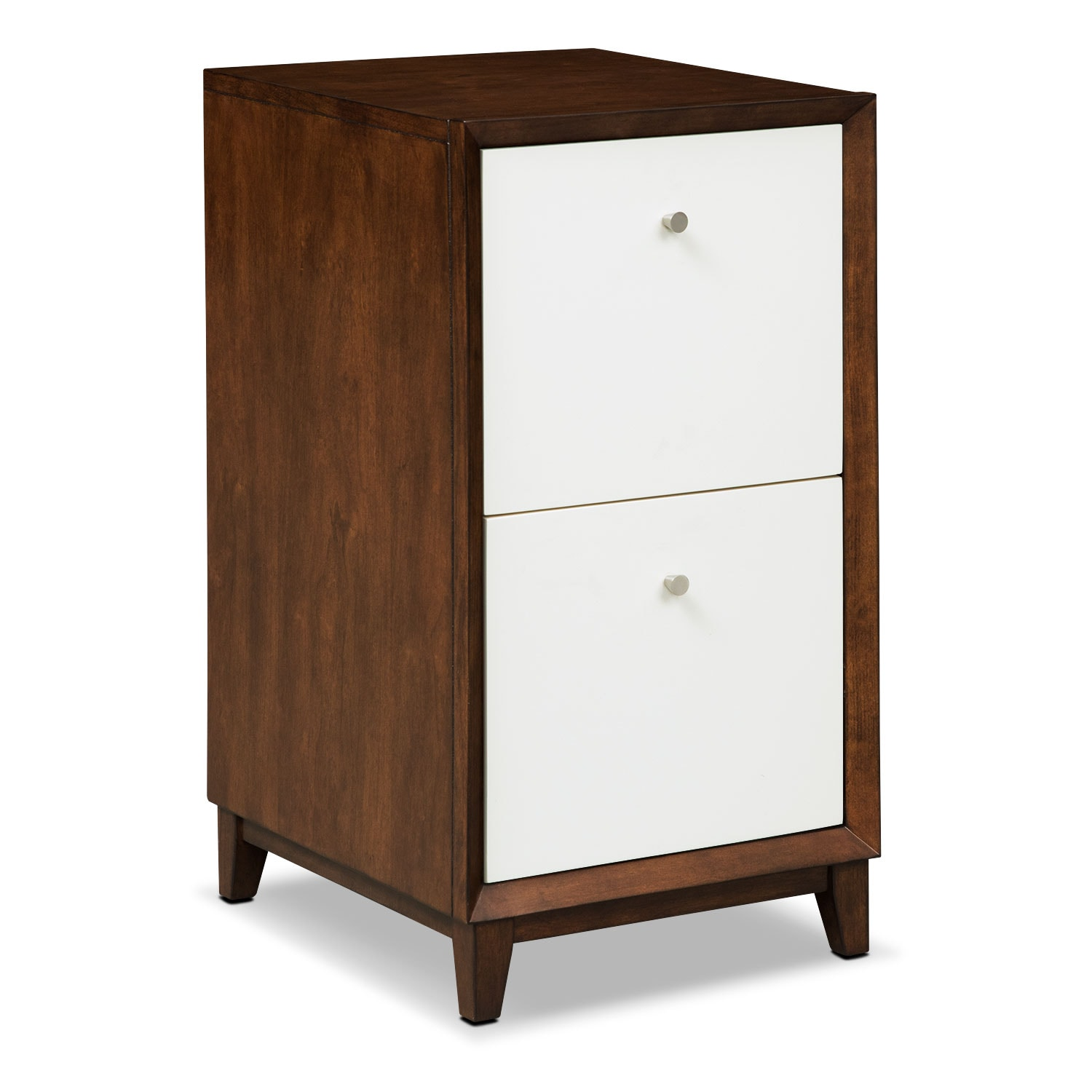 Home Office Furniture - Oslo White 2-Drawer File Cabinet