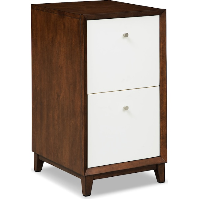 Home Office Furniture - Oslo 2-Drawer File Cabinet - White