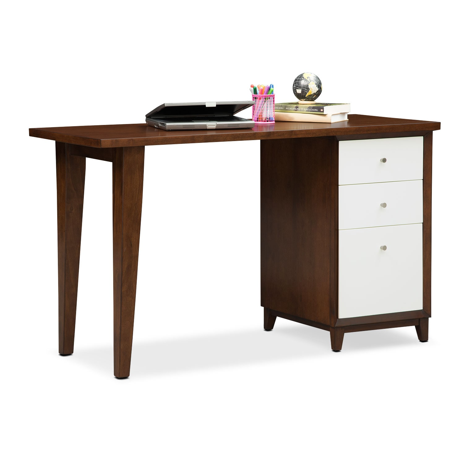 Home Office Furniture - Oslo White Laptop Desk