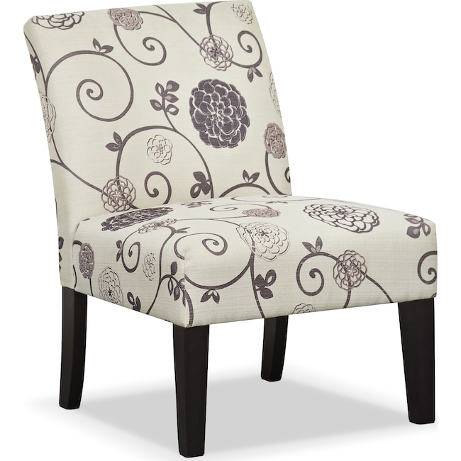 Accent and Occasional Furniture - Wylie Upholstered Side Chair - Floral
